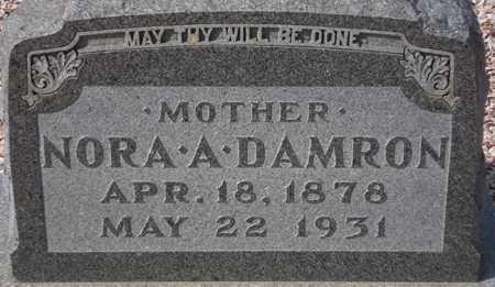 DAMRON, NORA A. - Maricopa County, Arizona   NORA A. DAMRON - Arizona Gravestone Photos