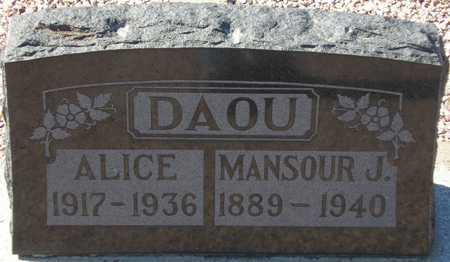 DAOU, ALICE - Maricopa County, Arizona | ALICE DAOU - Arizona Gravestone Photos