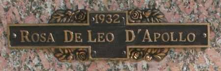 DELEO D'APOLLO, ROSA - Maricopa County, Arizona | ROSA DELEO D'APOLLO - Arizona Gravestone Photos
