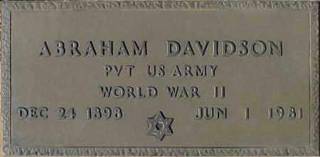DAVIDSON, ABRAHAM - Maricopa County, Arizona | ABRAHAM DAVIDSON - Arizona Gravestone Photos