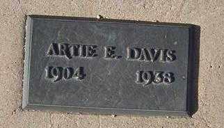DAVIS, ARTIE E. - Maricopa County, Arizona | ARTIE E. DAVIS - Arizona Gravestone Photos