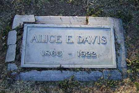 DAVIS, ALICE E. - Maricopa County, Arizona | ALICE E. DAVIS - Arizona Gravestone Photos