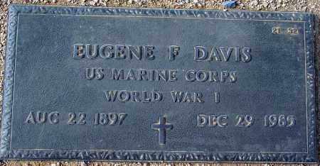 DAVIS, EUGENE F - Maricopa County, Arizona | EUGENE F DAVIS - Arizona Gravestone Photos