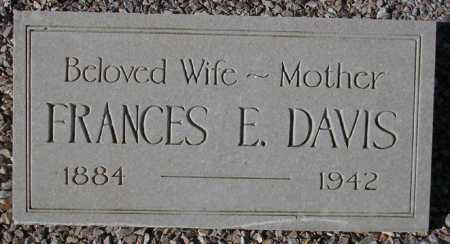DAVIS, FRANCES E. - Maricopa County, Arizona | FRANCES E. DAVIS - Arizona Gravestone Photos
