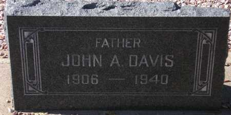 DAVIS, JOHN A. - Maricopa County, Arizona | JOHN A. DAVIS - Arizona Gravestone Photos