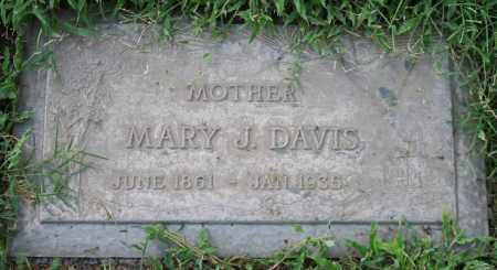 DAVIS, MARY J - Maricopa County, Arizona | MARY J DAVIS - Arizona Gravestone Photos