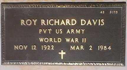 DAVIS, ROY RICHARD - Maricopa County, Arizona   ROY RICHARD DAVIS - Arizona Gravestone Photos