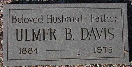 DAVIS, ULMER B. - Maricopa County, Arizona | ULMER B. DAVIS - Arizona Gravestone Photos