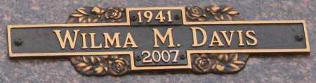 DAVIS, WILMA M - Maricopa County, Arizona | WILMA M DAVIS - Arizona Gravestone Photos