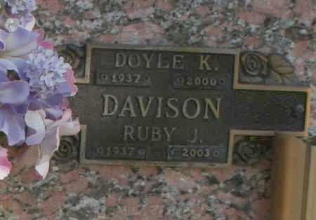 DAVISON, RUBY J - Maricopa County, Arizona | RUBY J DAVISON - Arizona Gravestone Photos