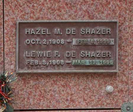 DE SHAZER, LEWIE F. - Maricopa County, Arizona | LEWIE F. DE SHAZER - Arizona Gravestone Photos