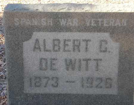 DE WITT, ALBERT C. - Maricopa County, Arizona | ALBERT C. DE WITT - Arizona Gravestone Photos