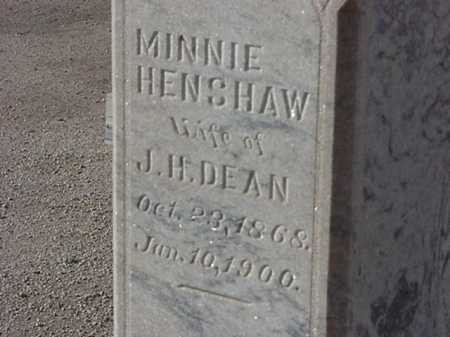 HENSHAW DEAN, MINNIE - Maricopa County, Arizona | MINNIE HENSHAW DEAN - Arizona Gravestone Photos