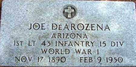 DEAROZENA, JOE - Maricopa County, Arizona   JOE DEAROZENA - Arizona Gravestone Photos
