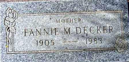 DECKER, FANNIE M. - Maricopa County, Arizona | FANNIE M. DECKER - Arizona Gravestone Photos