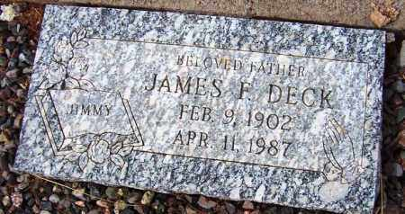 DECK, JAMES F. (JIMMY) - Maricopa County, Arizona | JAMES F. (JIMMY) DECK - Arizona Gravestone Photos