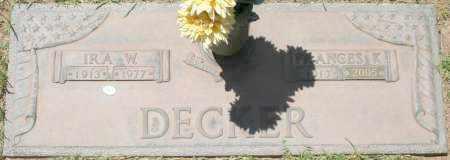 DECKER, IRA W. - Maricopa County, Arizona | IRA W. DECKER - Arizona Gravestone Photos