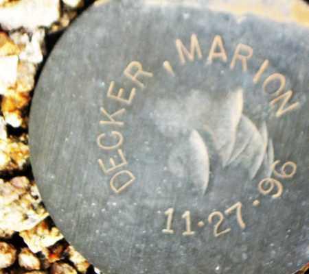 DECKER, MARION - Maricopa County, Arizona | MARION DECKER - Arizona Gravestone Photos