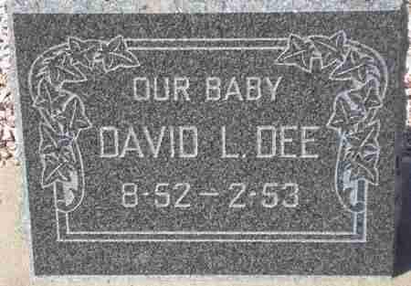 DEE, DAVID L. - Maricopa County, Arizona | DAVID L. DEE - Arizona Gravestone Photos