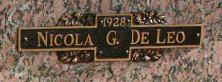 DELEO, NICOLA G - Maricopa County, Arizona | NICOLA G DELEO - Arizona Gravestone Photos