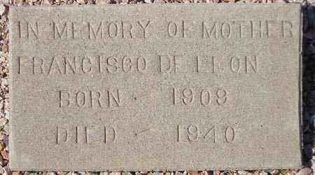 DELEON, FRANCISCO - Maricopa County, Arizona | FRANCISCO DELEON - Arizona Gravestone Photos