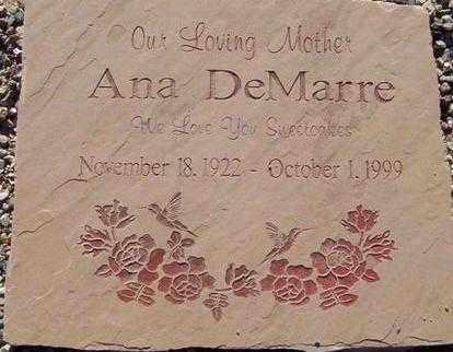 DEMARRE, ANA - Maricopa County, Arizona   ANA DEMARRE - Arizona Gravestone Photos