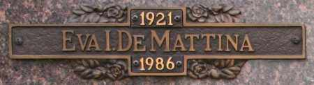 DEMATTINA, EVA I - Maricopa County, Arizona | EVA I DEMATTINA - Arizona Gravestone Photos