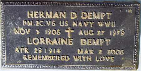 DEMPT, HERMAN D. - Maricopa County, Arizona | HERMAN D. DEMPT - Arizona Gravestone Photos