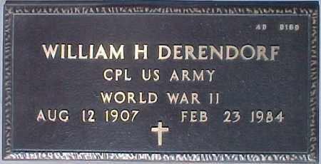 DERENDORF, WILLIAM H. - Maricopa County, Arizona   WILLIAM H. DERENDORF - Arizona Gravestone Photos