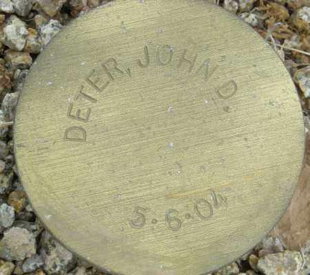DETER, JOHN D. - Maricopa County, Arizona | JOHN D. DETER - Arizona Gravestone Photos