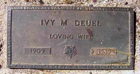 DEUEL, IVY M. - Maricopa County, Arizona | IVY M. DEUEL - Arizona Gravestone Photos