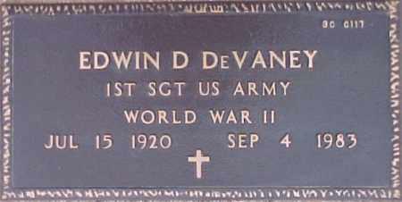 DEVANEY, EDWIN D. - Maricopa County, Arizona   EDWIN D. DEVANEY - Arizona Gravestone Photos