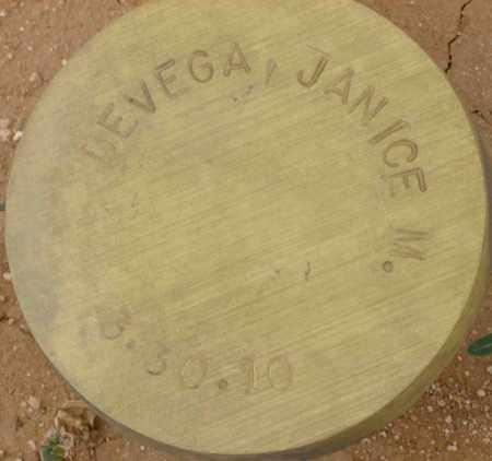 DEVEGA, JANICE M. - Maricopa County, Arizona | JANICE M. DEVEGA - Arizona Gravestone Photos