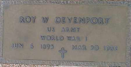DEVENPORT, ROY W - Maricopa County, Arizona   ROY W DEVENPORT - Arizona Gravestone Photos