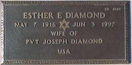 DIAMOND, ESTHER E. - Maricopa County, Arizona   ESTHER E. DIAMOND - Arizona Gravestone Photos
