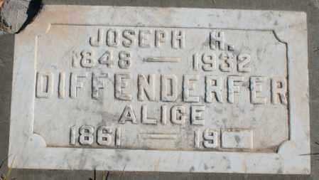 DIFFENDERFER, JOSEPH H - Maricopa County, Arizona | JOSEPH H DIFFENDERFER - Arizona Gravestone Photos