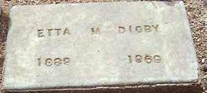 DIGBY, ETTA M. - Maricopa County, Arizona | ETTA M. DIGBY - Arizona Gravestone Photos