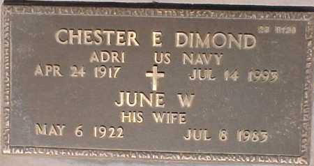 DIMOND, CHESTER E. - Maricopa County, Arizona | CHESTER E. DIMOND - Arizona Gravestone Photos