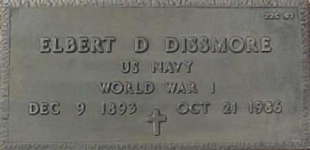 DISSMORE, ELBERT D. - Maricopa County, Arizona   ELBERT D. DISSMORE - Arizona Gravestone Photos