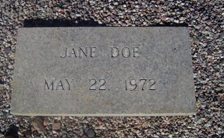 DOE, JANE - Maricopa County, Arizona | JANE DOE - Arizona Gravestone Photos
