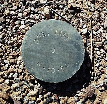 DOE, JANE - Maricopa County, Arizona | JANE DOE - Arizona Gravestone Photos