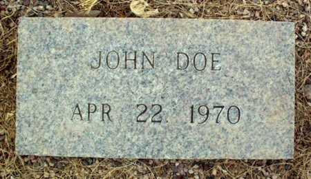 DOE, JOHN - Maricopa County, Arizona | JOHN DOE - Arizona Gravestone Photos