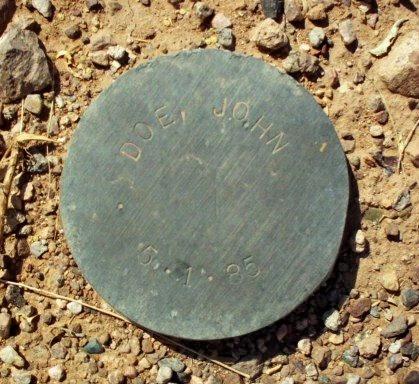 DOE, JOHN - Maricopa County, Arizona   JOHN DOE - Arizona Gravestone Photos