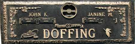 DOFFING, JANINE M. - Maricopa County, Arizona | JANINE M. DOFFING - Arizona Gravestone Photos