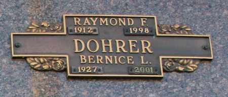 DOHRER, RAYMOND F - Maricopa County, Arizona   RAYMOND F DOHRER - Arizona Gravestone Photos