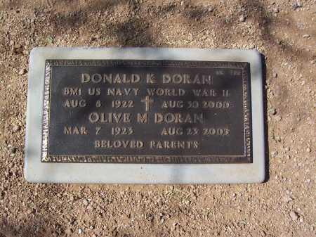 DORAN, DONALD - Maricopa County, Arizona | DONALD DORAN - Arizona Gravestone Photos