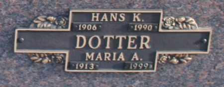DOTTER, HANS K - Maricopa County, Arizona   HANS K DOTTER - Arizona Gravestone Photos