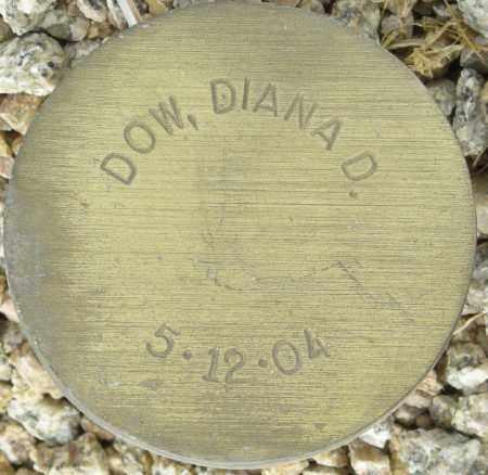 DOW, DIANA D. - Maricopa County, Arizona   DIANA D. DOW - Arizona Gravestone Photos