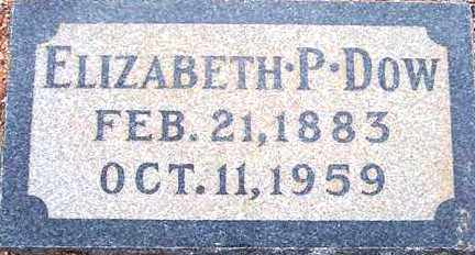 DOW, ELIZABETH P. - Maricopa County, Arizona | ELIZABETH P. DOW - Arizona Gravestone Photos