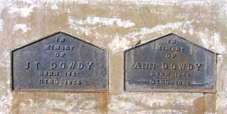 DOWDY, ANNIE - Maricopa County, Arizona   ANNIE DOWDY - Arizona Gravestone Photos